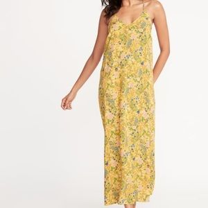 Old Navy Plus Size Yellow Floral Print Maxi Dress